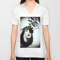 bats V-neck T-shirts featuring Bats by Nuria Mrtz. FotoArt