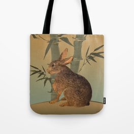 Hare Under Bamboo Tree Tote Bag