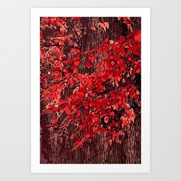 Beautiful red branches Art Print