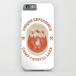 Unique Experience Camp Crystal Lake Slasher Horror Retro Halloween Design iPhone Case