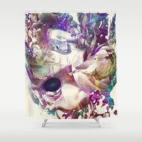 karma Shower Curtains featuring Karma II by angrymonk