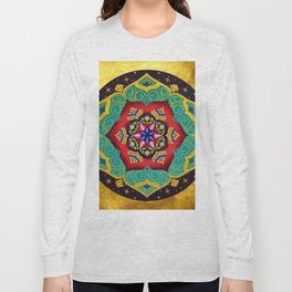 Connection with the universe / Mandala by Ilse Quezada Long Sleeve T-shirt