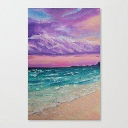 Sombre purple sky Canvas Print