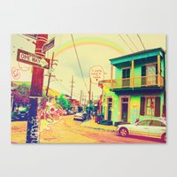 new orleans Canvas Prints featuring New Orleans ~ by Full Ten