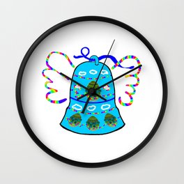 Winged Bell Wall Clock