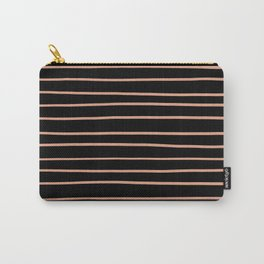 Pratt and Lambert Earthen Trail 4-26 Hand Drawn Horizontal Lines on Black Carry-All Pouch