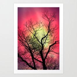 Red Sky At Dawn Art Print