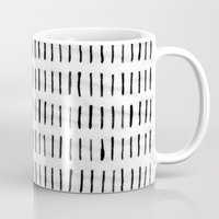 woodstock Mugs featuring Black Ink Woodstock Pattern on White  by LacyDermy