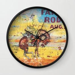Fair & Rodeo Wall Clock