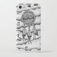 dream catcher iPhone & iPod Cases featuring Dream catcher by DeMoose_Art