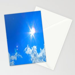 Sun, clouds Stationery Cards