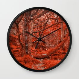Ruby Moss Forest Wall Clock