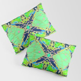 Art Deco Butterfly Fairy Abstract Pillow Sham