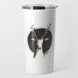 Reindeer outside in the snow Travel Mug
