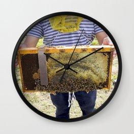 Beekeeping for Beginners Wall Clock