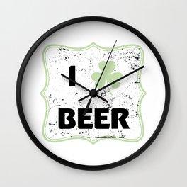 St Patty Irish Funny St Patrick's Day Beer Funny Wall Clock