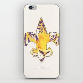 Fleur De Lis LSU Tiger iPhone Skin