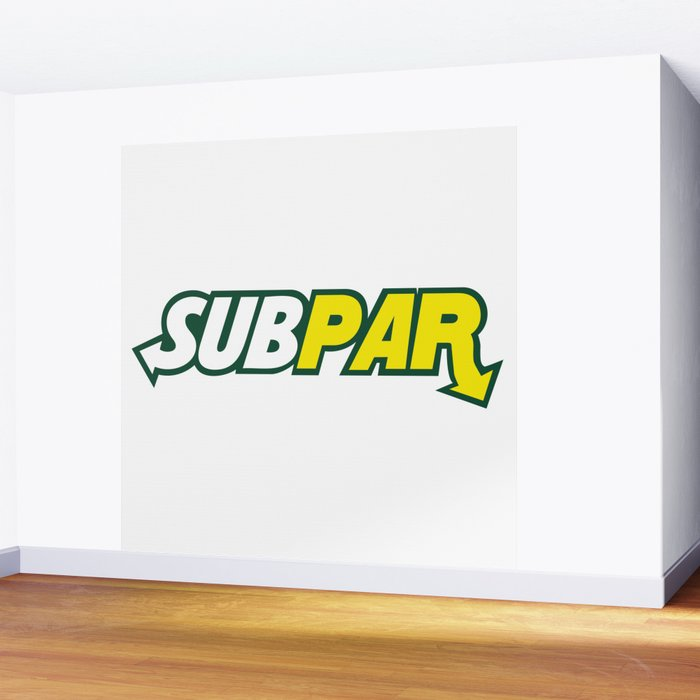 Logo Parody Subway Subpar Wall Mural By Jaredgase Society6