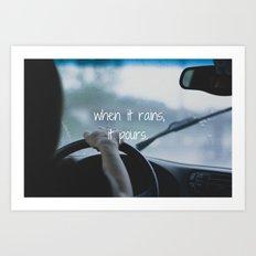 When it Rains. Art Print