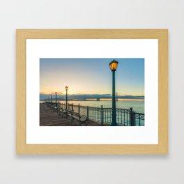 Morning at Pier 7 Framed Art Print