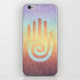 Spiral Hand Rainbow iPhone Skin