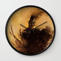 istanbul Wall Clocks featuring istanbul  by Atalay Mansuroğlu