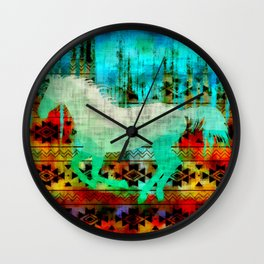 A southwest winter horse Wall Clock