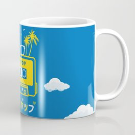 City Pop Summer theme (blue) Coffee Mug