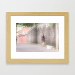Young lady Framed Art Print