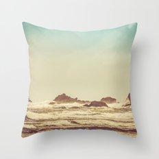 Ocean Waves - Blue Sea Beach in California Throw Pillow