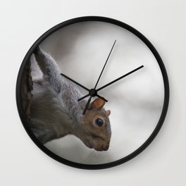 Cheeky Squirrel Peek-a-boo Wall Clock