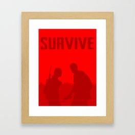 Minimalist Ellie and Joel ( The last of us ) Framed Art Print