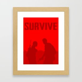 Minimalist Ellie and Joel ( The last of us ) Framed Art Print