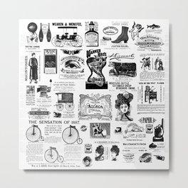 Vintage Victorian Ads Metal Print