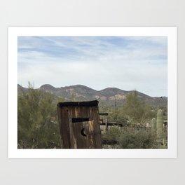 outhouse in Arizonia Art Print