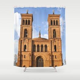 Sant Thomas Church in Berlin Shower Curtain