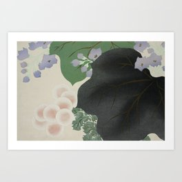 Flowers and leaves Art Print