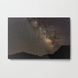 Campsite Milky Way Metal Print