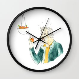 Gary Busey Eats a Peach Wall Clock