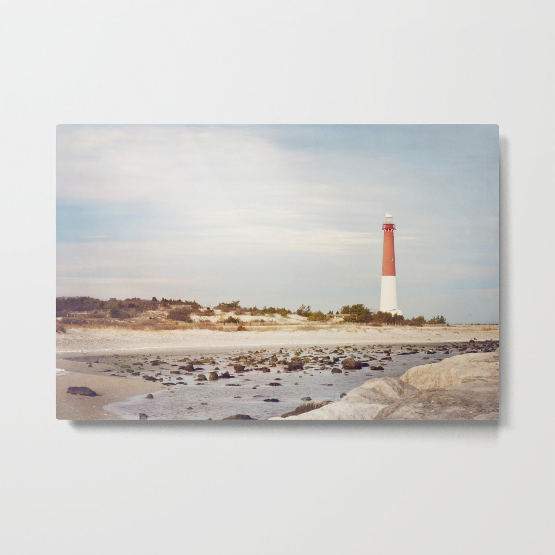 Barnegat Lighthouse Long Beach Island New Jersey S Old Barney Light House Lbi Metal Print
