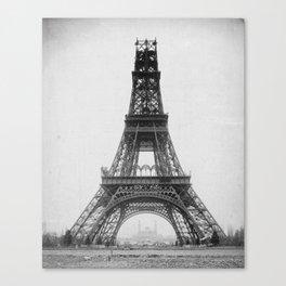 Eiffel Tower Under Construction Canvas Print