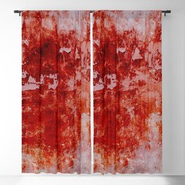 Crimson Stained - Red and pink textured abstract Blackout Curtain