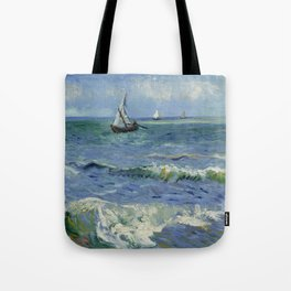 Seascape near Les Saintes-Maries-de-la-Mer Tote Bag