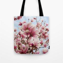 magnolia and blue sky Tote Bag