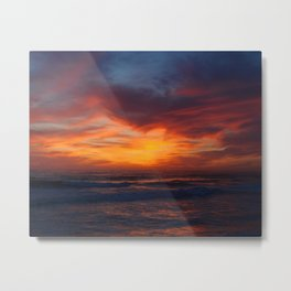 Autumn Sunset Metal Print