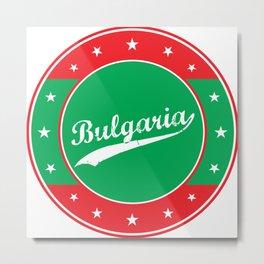Bulgaria, circle, green Metal Print