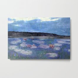 Water Lillies/Cold Spring Harbor Metal Print