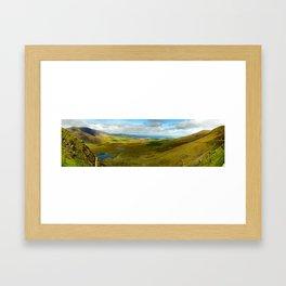 Conner Pass Panorama Framed Art Print
