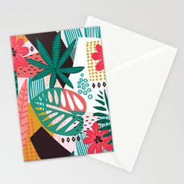 Matisse Inspired Pop Art Tropical Fun Jungle Pattern Stationery Cards