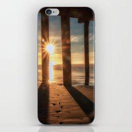 Through the Blinds sun bursts through Avila Pier Avila Beach California iPhone Skin